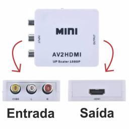 Cod:0082 Conversor Rca Entrada X Hdmi Saída Av2hdmi 1080p Vídeo Mini