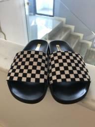 Sandália xadrez