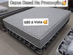 Título do anúncio: CAMA CASAL DE MOLAS