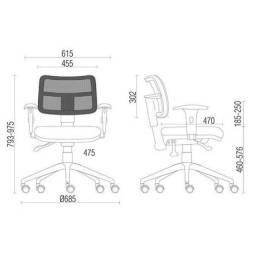 cadeira giratória tela zipp