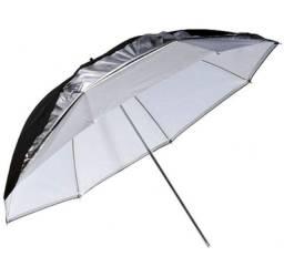 Título do anúncio: Sombrinha Greika 3 em 1 - 84cm - UR05 - Preta, Prata e Branca