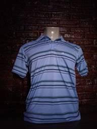 Camisas polo listradas e lisas