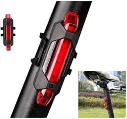 Título do anúncio: Sinalizador Led bike usb KIT dianteiro e traseiro