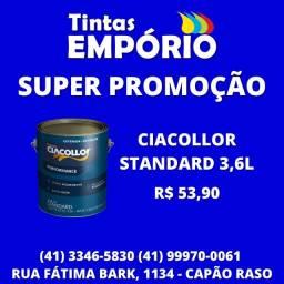 Promoção tinta Ciacollor standard 3,6L