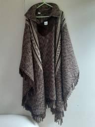 poncho masculino em lã ,tamanho: M