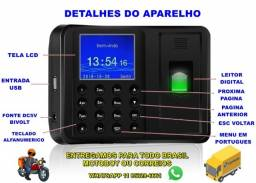 Relógio De Ponto Com Leitor Biometria Digital 600 Funcionários *Enviando normalmente
