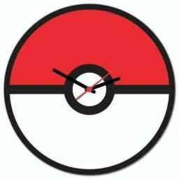 Relógio de parede pokébola vem resgatar os pokémons perdidos! Levamos até você!!