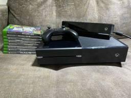 Título do anúncio: Xbox One 500gb Fat + Controle + Kinect + 8 Jogos!