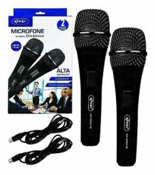 2 Microfone Com Fio. Profissional Modelo KP-M0015