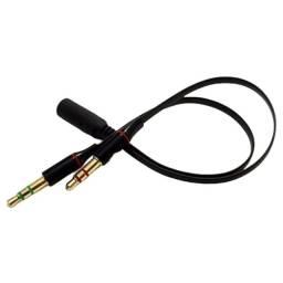 Adaptador P3 Fêmea Para P2 Macho (fone) P2 Macho (microfone)