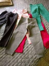 5 calças legging veste 2 a 3 anos. ( as 5 por 20 reais)otimo.estado