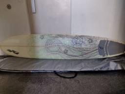 Título do anúncio: Prancha de surf long com capa