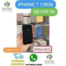 IPhone 7 128gb Preto Brilhante Completo Entrega Grátis