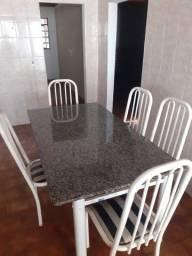 Título do anúncio: Mesa mármore com cadeiras