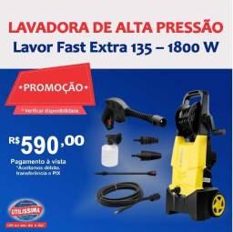 Lavadora de Alta Pressão Lavor Fast Extra 135 ? 1800 W? Entrega grátis