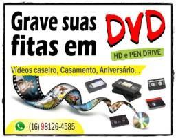 Conversão de fitas em DVD, HD e Pen Drive