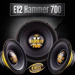 """Título do anúncio: eros hammer 700 woofer sub subwofer falante 12 12"""""""