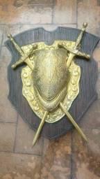 Título do anúncio: Armadura Medieval Bronze Parede Decoração