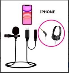 Microfone Lapela Profissional Conector P2/lightning Reunião
