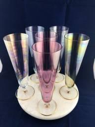 Conjunto de Taças em Fino Cristal Reynoso
