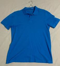 Camiseta gola polo masculina azul M. Officer