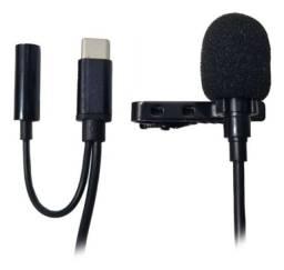 Microfone Condensador De Lapela Conector Tipo C Para S10 S20