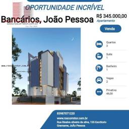 Título do anúncio: Apartamento para Venda em João Pessoa, Bancários, 3 dormitórios, 1 suíte, 1 banheiro, 2 va