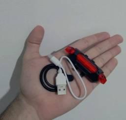 Farol Bicicleta Lanterna USB<br>Recarregável LED - (Aceito Cartão Sem<br>Juros) Apenas<br>vermelho