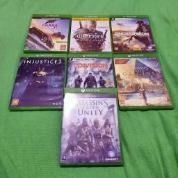 Kit 7 jogos Xbox One Originais Com Caixa Impecáveis