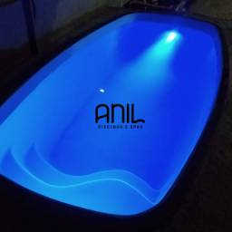 Título do anúncio: JA - Piscina 4 x 2 x 1,20m , piscina nova de fibra Anil