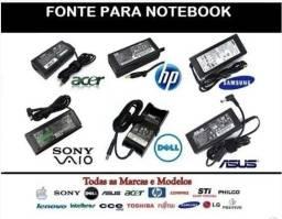 Fonte para notebook de várias marcas novos com garantia
