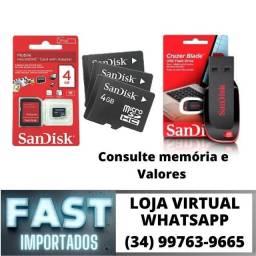 Pendrive / Cartão de Memória* Consulte * Original Sandisk