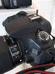 Câmera Fotográfica profissional Canon.
