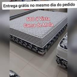 Título do anúncio: Cama Box Casal de molas bonnel, NOVA DE FÁBRICA COM ENTREGA GRÁTIS