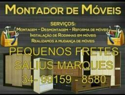 Montador de móveis e pequenos fretes 99159-8580