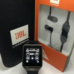 Smart relógio e fone Bluetooth