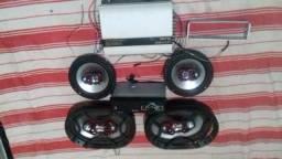Auto radio multilaser usb, 4 alto falantes bravok ,grade, modulo cl stetson 1000