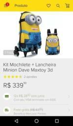 Mochila infantil Minions + Lancheira Minions