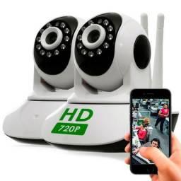 2 Cameras Ip Sem Fio Hd 720p 1.3 Mp Wi-fi Noturna Gira 360 Graus - Frete Grátis