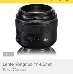 Vendo lente 85 mm yongnuo para Cânon