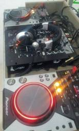 CDJ Pioneer (par) + Mixer Behringer NOX 404