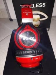 Dois Fones de Ouvido Bluetooth da Sony S110 Vermelho