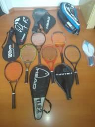 Raquete tênis e Capa de raquete adulto várias marcas