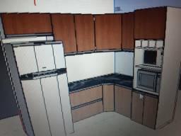 Cozinha modulada em mdf 2790,00 faça seu orçamento