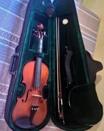 Violino 4/4 Michael Vnm40 + Estojo Luxo + Espaleira