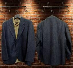 Grajau/Rj - Blazer Masculino Lã, tam. 54 longo, azul marinho, Via Veneto, Semi Novo