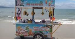 Carrinho bebidas coquetel sucos drinks caipirinha açaí salada de frutas