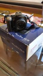 Máquina Fotográfica Digital Canon S5 + tripé, cartão, bolsa e carregador