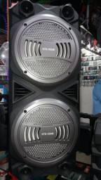 Caixa de Som Speakers Com Microfone e Controle Remoto de Brinde