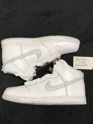 Nike dunk high white / silver